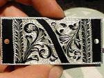 Danae's engraving, chisel and rotary engraving.